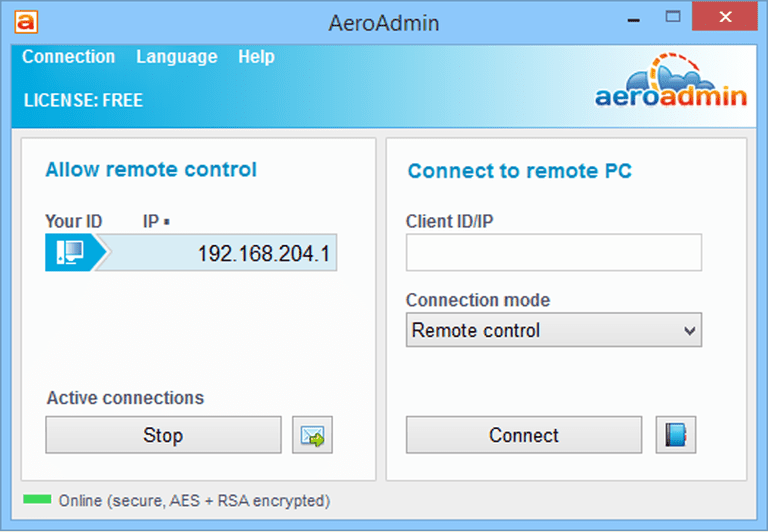 Ammyy Remote Desktop Software