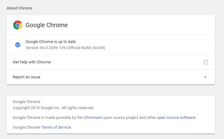 chrome-is-up-to-date