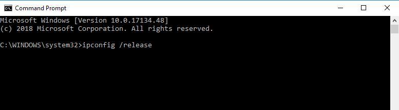 cmd-ipconfig-release