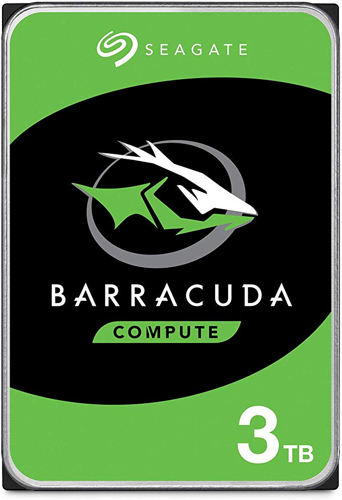 Seagate BarraCuda 3TB Internal Hard Drive HDD – 3.5 Inch SATA 6Gb/s 5400 RPM 256MB Cache for Computer Desktop PC – Frustration Free Packaging (ST3000DM007)